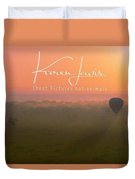 Duvet Cover featuring the mixed media A Mara Morn by Karen Lewis