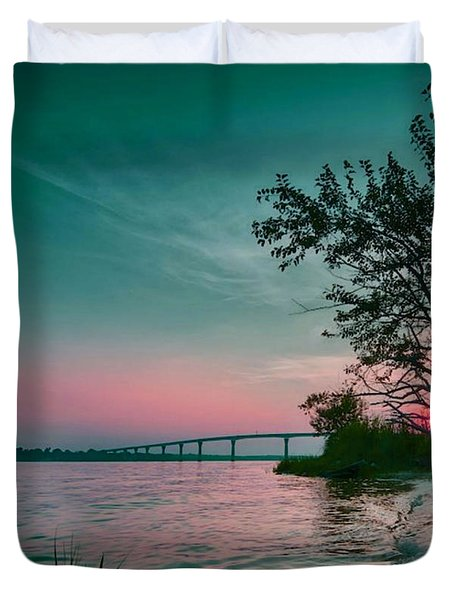 A Maryland Sunset Duvet Cover
