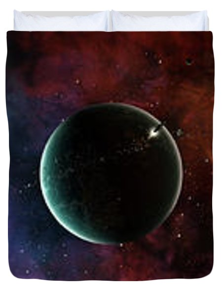 A Massive And Crowded Universe Duvet Cover by Brian Christensen