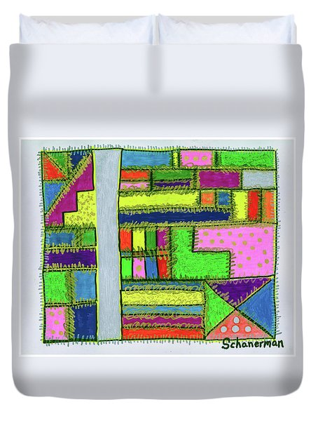 A-maze-ing Colors Duvet Cover