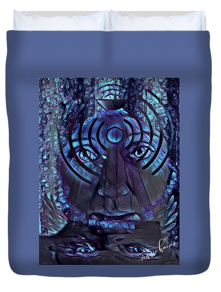 A Medium For Other People's Trauma Duvet Cover