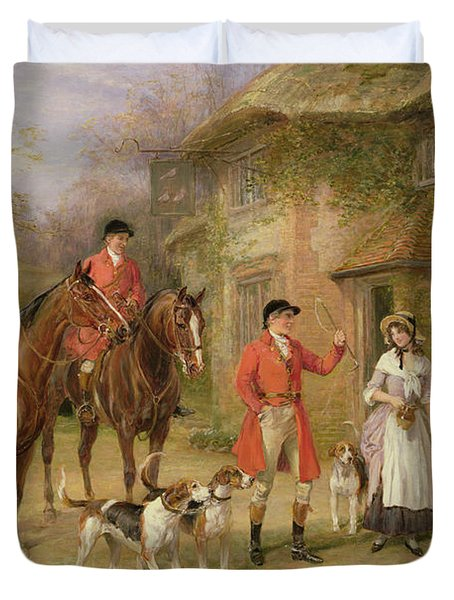 A Meeting At The Three Pigeons Duvet Cover