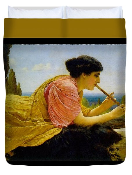 A Melody  Duvet Cover by John William Godward