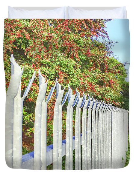 A Metal Fence Duvet Cover