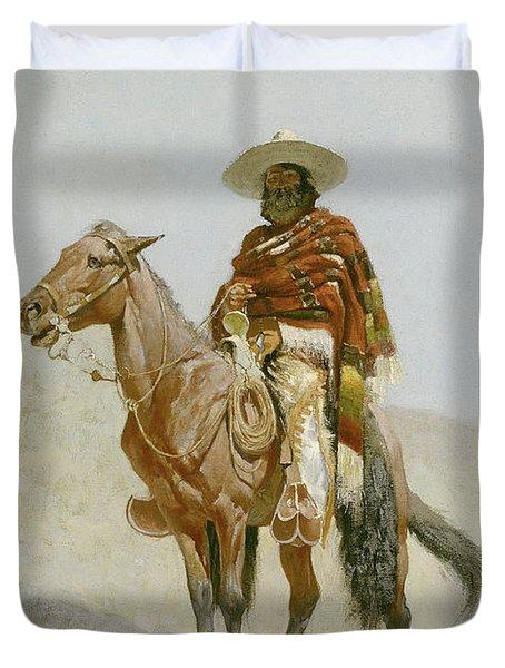 A Mexican Vaquero Duvet Cover