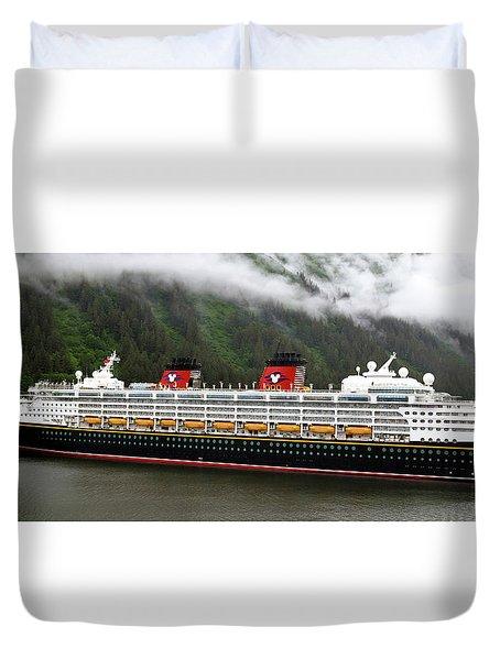 A Mickey Mouse Cruise Ship Duvet Cover