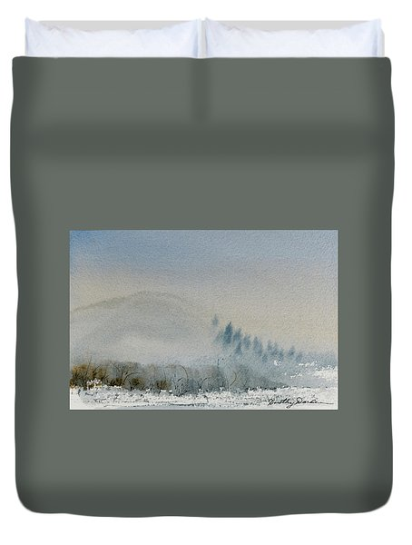 A Misty Morning Duvet Cover