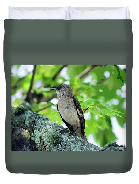 A Mockingbird Song Duvet Cover