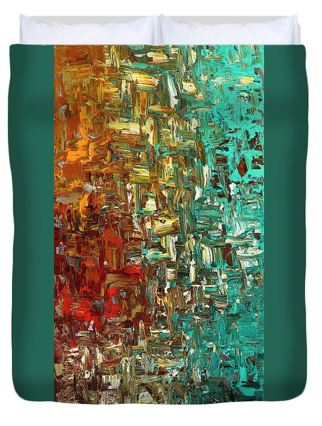 A Moment In Time - Abstract Art Duvet Cover