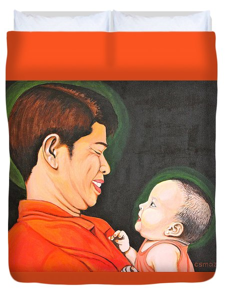 A Moment With Dad Duvet Cover