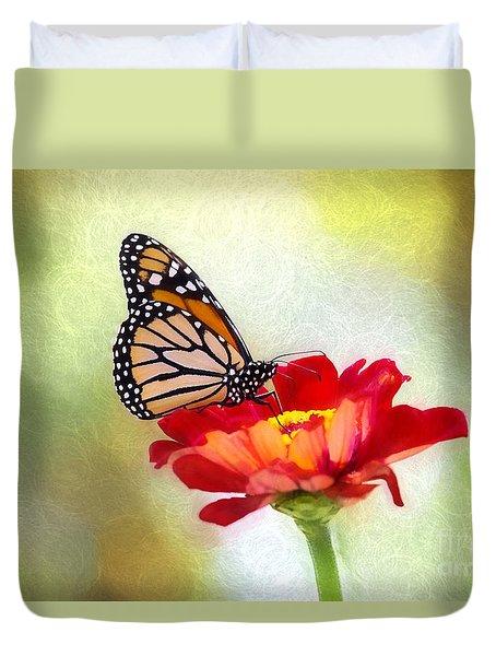 A Monarch Moment Duvet Cover
