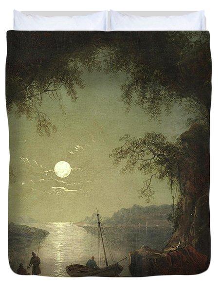 A Moonlit Cove Duvet Cover