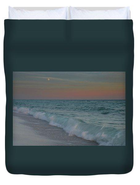 A Moonlit Evening On The Beach Duvet Cover