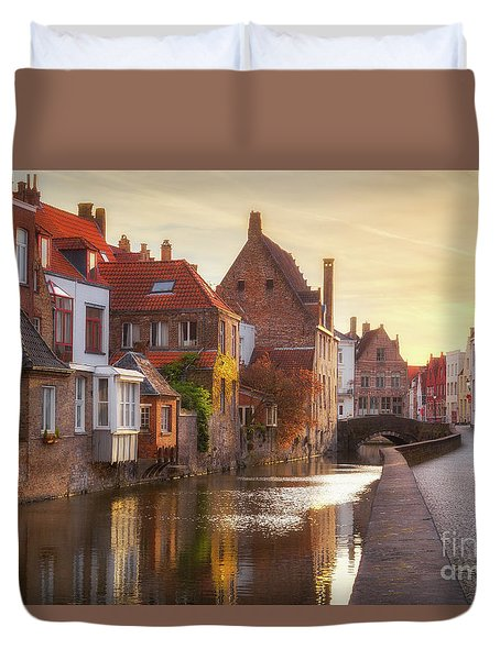 A Morning In Brugge Duvet Cover by JR Photography