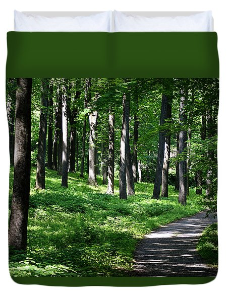 A Morning Walk Duvet Cover
