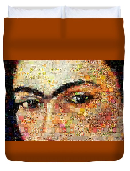 Duvet Cover featuring the photograph A Mosaic Of Life Thru Her Eyes by Paula Ayers