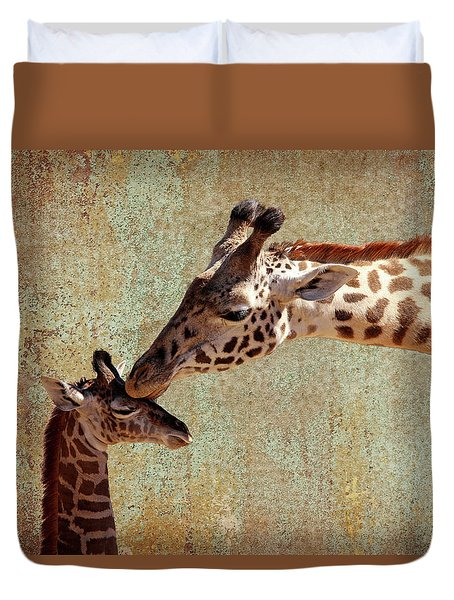 A Mother's Kiss Duvet Cover by Judy Vincent