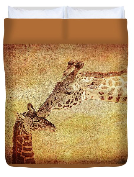 A Mother's Kiss Painted 2 Duvet Cover