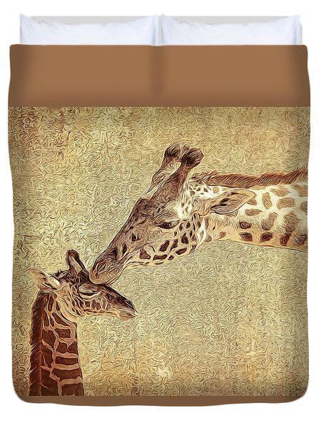 A Mother's Kiss Painted Duvet Cover