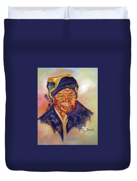 A Mothers Pride Duvet Cover by Raymond Doward