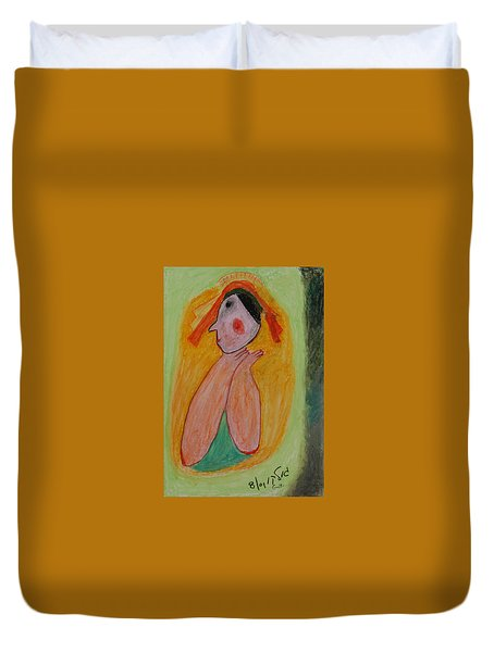 A Mother's View Of Baby Duvet Cover by Harris Gulko