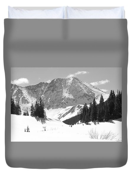 Duvet Cover featuring the photograph A Mountain Is A Buddha by Eric Glaser