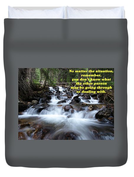 A Mountain Stream Situation 2 Duvet Cover by DeeLon Merritt