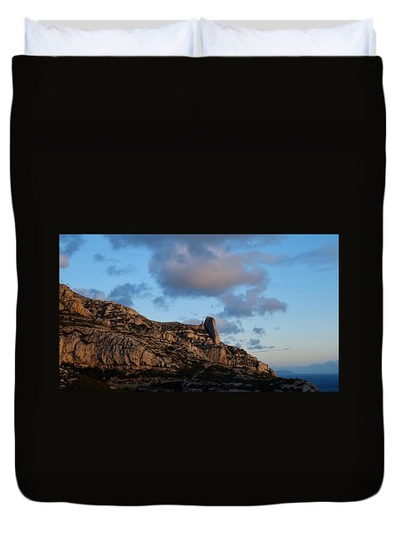 A Mountain With A View Duvet Cover