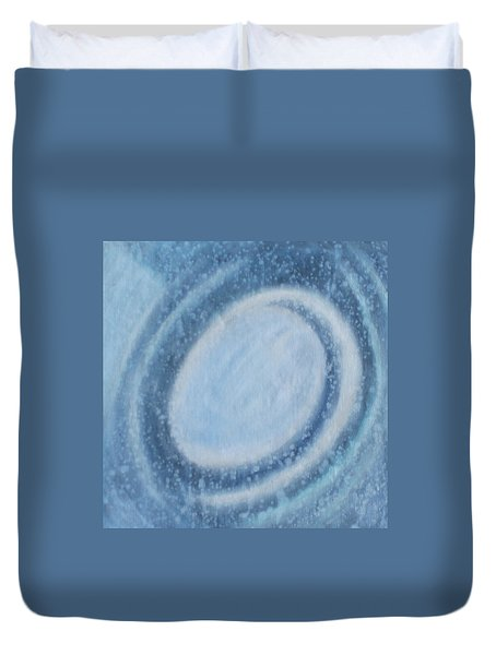 Duvet Cover featuring the painting A Moving by Min Zou
