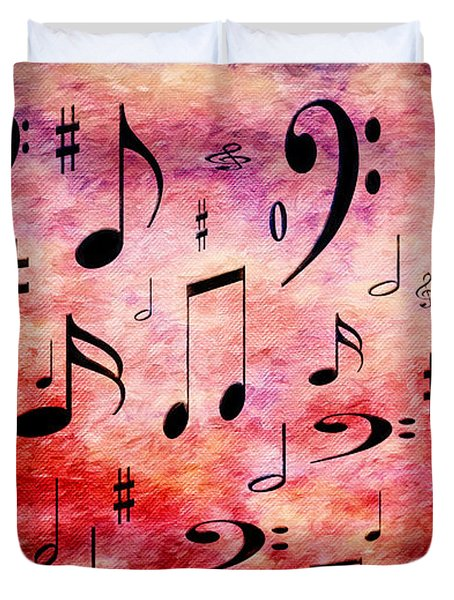 Duvet Cover featuring the digital art A Musical Storm 4 by Andee Design