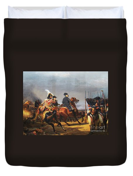A Napoleonic War At Versailles Duvet Cover by Al Bourassa