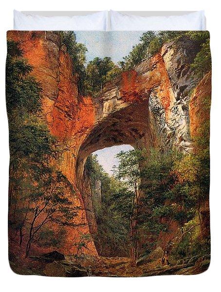 A Natural Bridge In Virginia Duvet Cover
