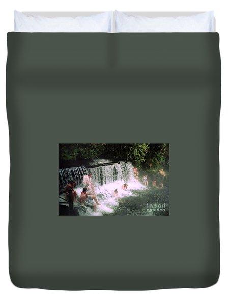A Natural Warm Shower  Duvet Cover