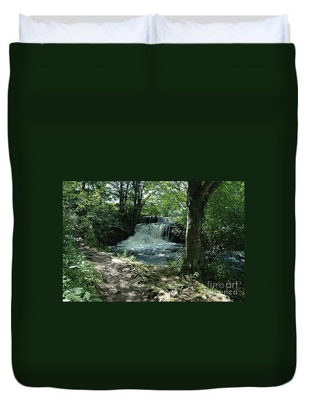 A Nature Trail - Waterfall Duvet Cover