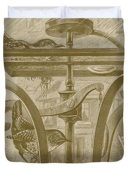 A Nest In A Lamp Duvet Cover by David Davies