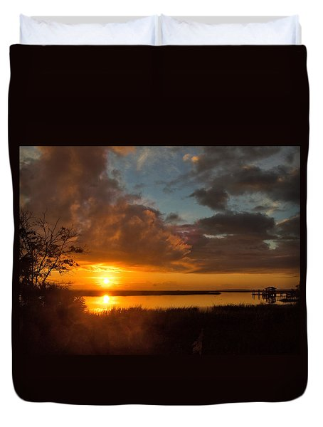 Duvet Cover featuring the photograph A New Beginning by Laura Ragland