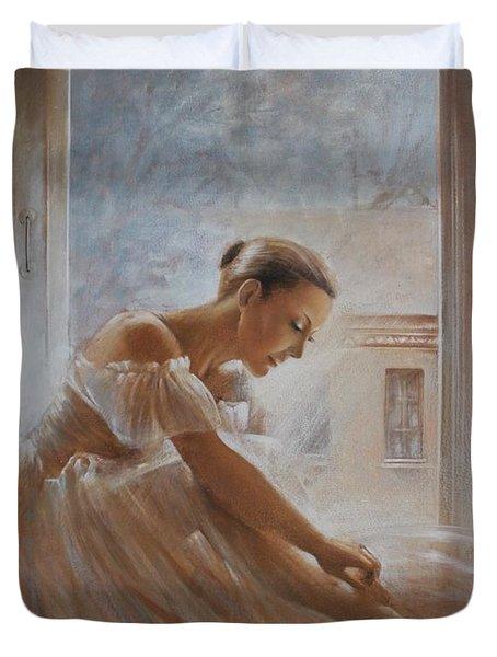 A New Day Ballerina Dance Duvet Cover by Vali Irina Ciobanu
