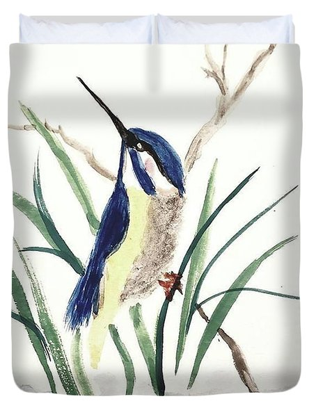 Duvet Cover featuring the painting A New Day by Margaret Welsh Willowsilk