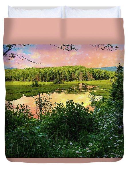 A New England Bog. Duvet Cover