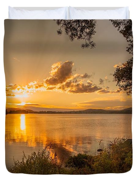 Duvet Cover featuring the photograph A New Summer by Rose-Maries Pictures