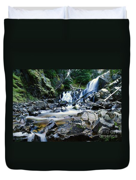 A New Way To The Waterfall  Duvet Cover by Jeff Swan