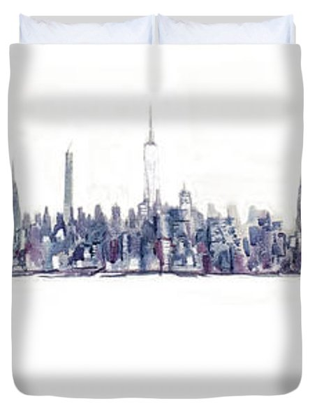 A New Year In Manhattan Duvet Cover