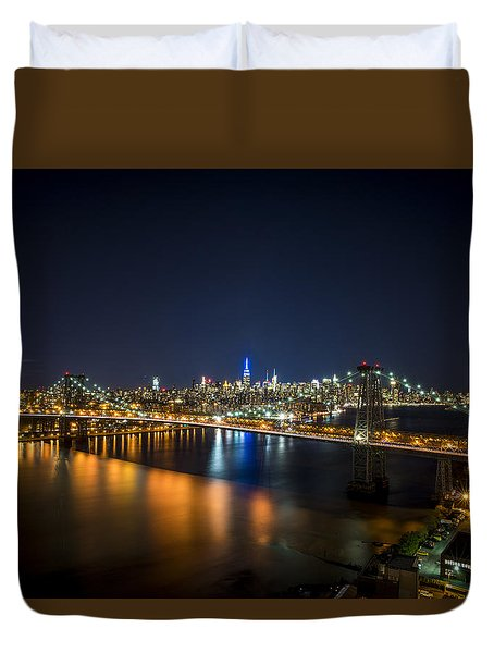 A New York City Night Duvet Cover