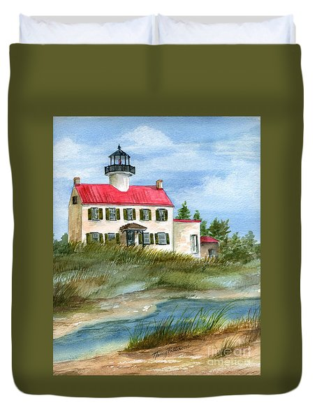A Nice Day At The Point  Duvet Cover by Nancy Patterson