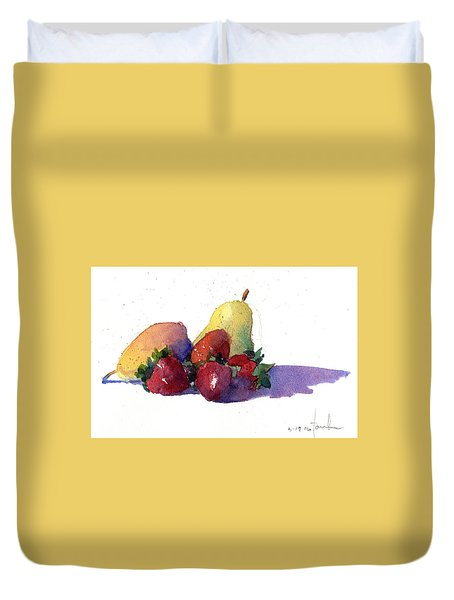 Still Life With Pears Duvet Cover