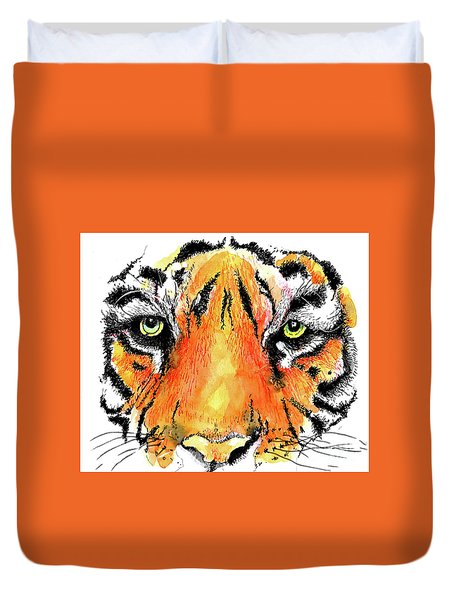 A Nice Tiger Duvet Cover by Terry Banderas