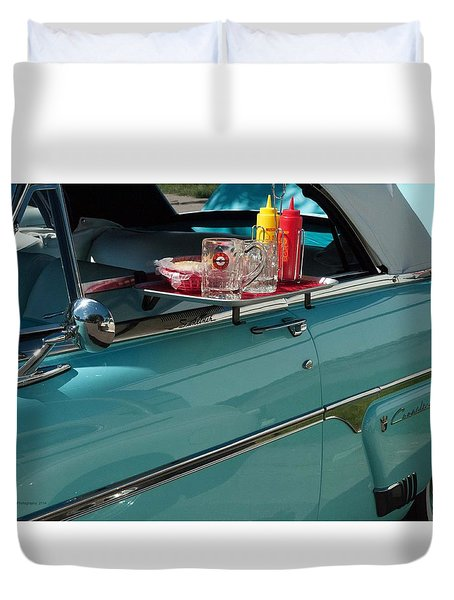 A Night At The Root Beer Stand Duvet Cover