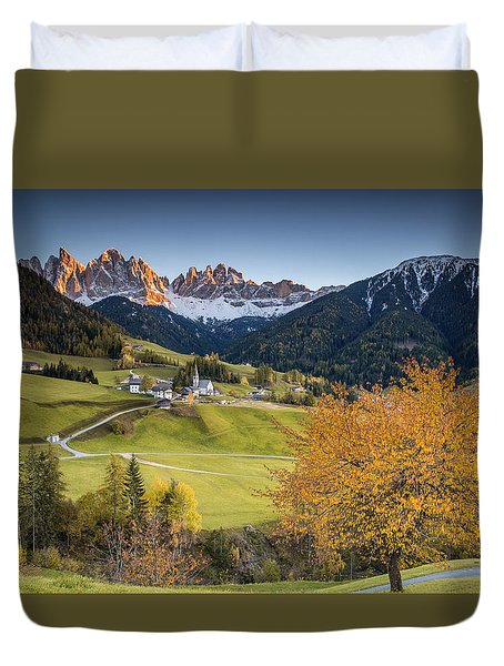 A Night In Dolomites Duvet Cover