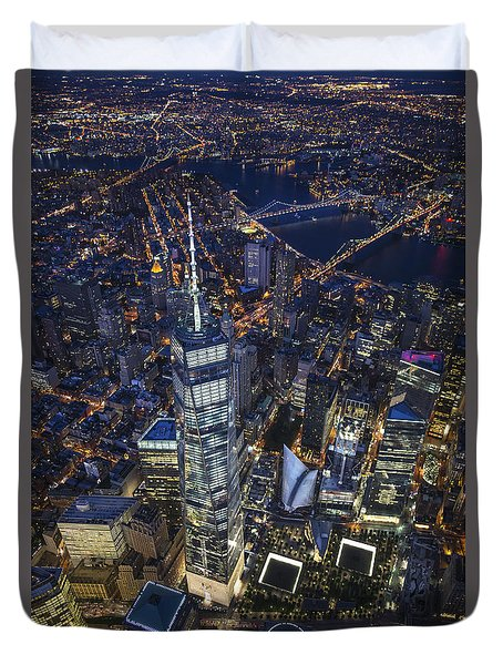 A Night In New York City Duvet Cover