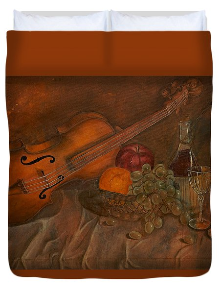 A Night Of Love Duvet Cover